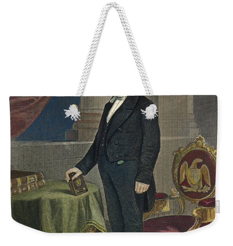 19th Century Weekender Tote Bag featuring the photograph James Buchanan (1791-1868) by Granger