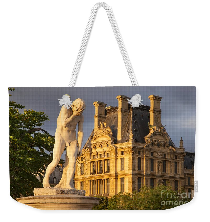 Architecture Weekender Tote Bag featuring the photograph Jardin Des Tuileries by Brian Jannsen