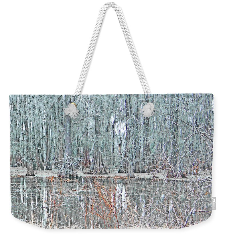 Swamp Weekender Tote Bag featuring the digital art Lake Martin Swamp by Lizi Beard-Ward