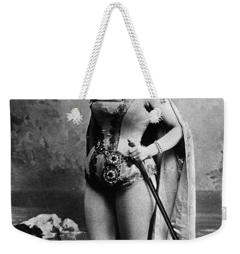 1881 Weekender Tote Bag featuring the photograph Lillian Russell (1861-1922) by Granger