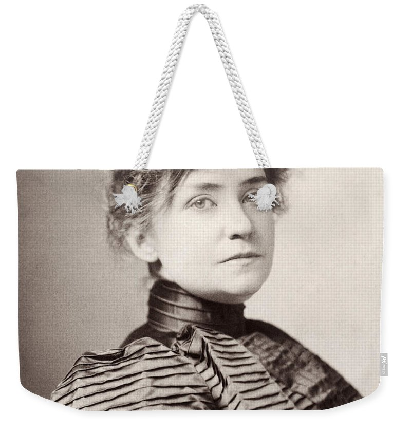 19th Century Weekender Tote Bag featuring the photograph Minnie Maddern Fiske by Granger