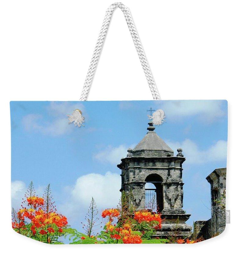 Mission Weekender Tote Bag featuring the digital art Mission San Jose San Antonio by Lizi Beard-Ward