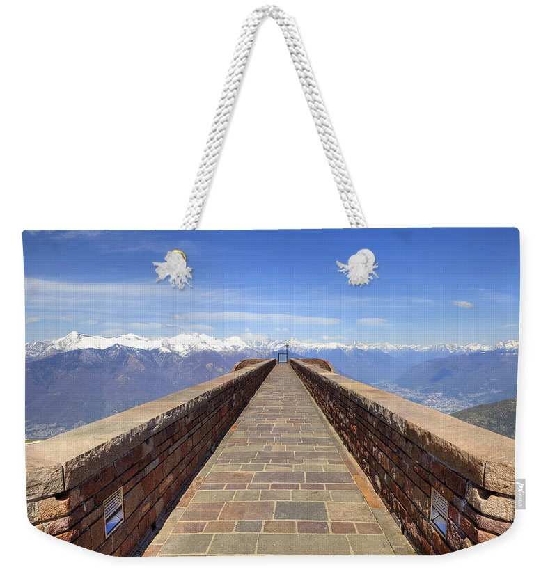 Monte Tamaro Weekender Tote Bag featuring the photograph Monte Tamaro by Joana Kruse