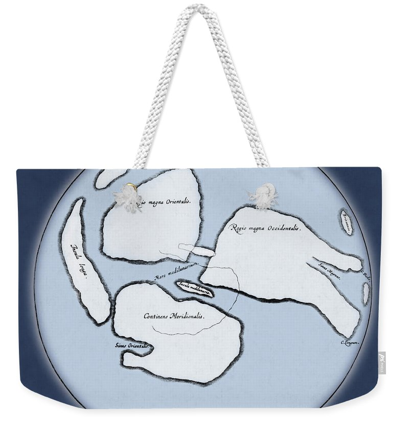 Enhanced Weekender Tote Bag featuring the photograph Moon Map By William Gilbert, 1603 by Science Source