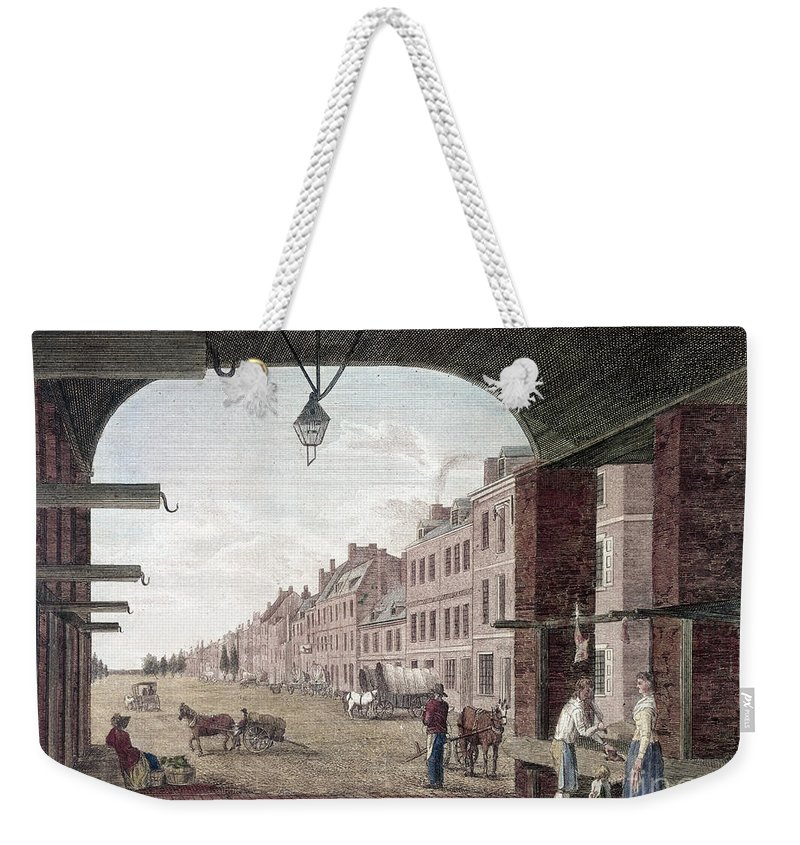 1797 Weekender Tote Bag featuring the photograph Philadelphia: High Street by Granger