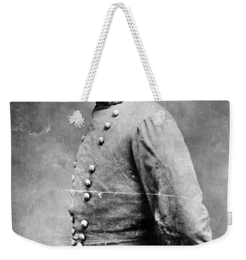 1860s Weekender Tote Bag featuring the photograph Pierre G.t.de Beauregard by Granger