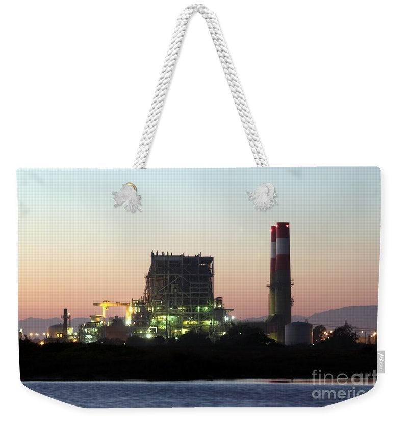 Industry Weekender Tote Bag featuring the photograph Power Station by Henrik Lehnerer