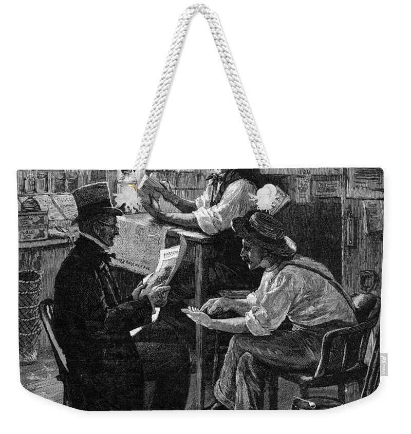 1884 Weekender Tote Bag featuring the photograph Presidential Campaign, 1884 by Granger