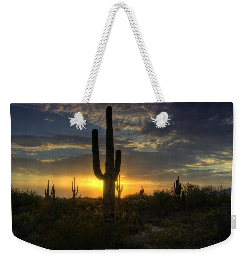 Sunset Weekender Tote Bag featuring the photograph Pure Gold by Saija Lehtonen