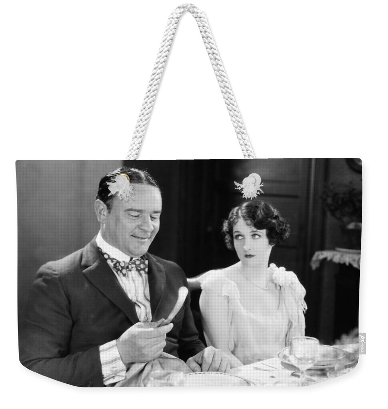 -eating Restaurants- Weekender Tote Bag featuring the photograph Silent Film: Restaurants by Granger
