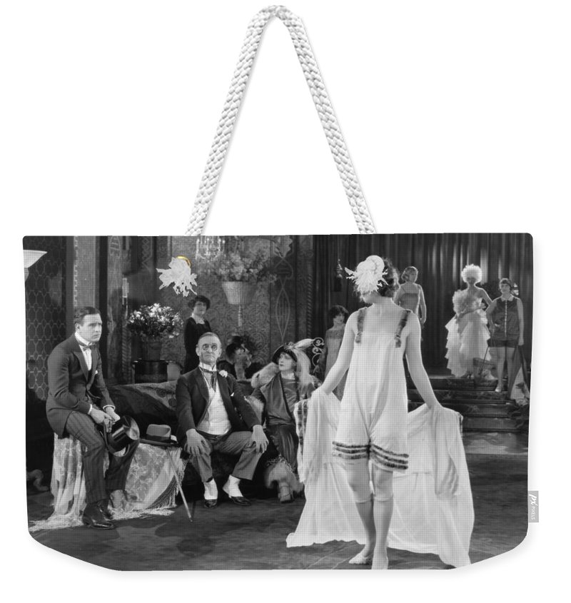 1920s Weekender Tote Bag featuring the photograph Silent Film Still: Fashion by Granger