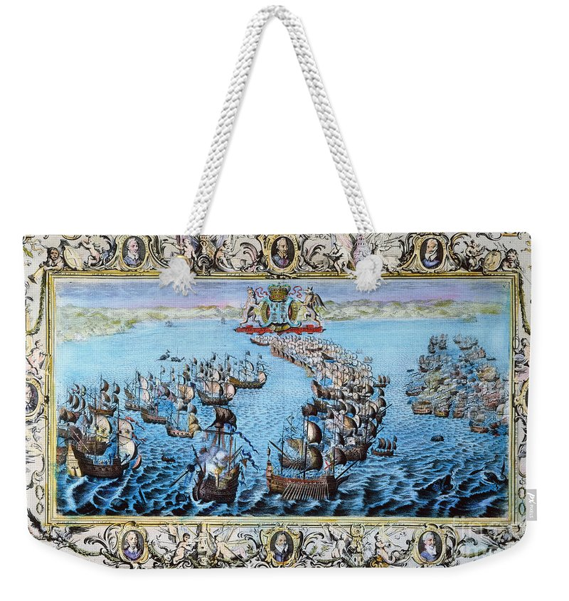 1588 Weekender Tote Bag featuring the photograph Spanish Armada, 1588 by Granger