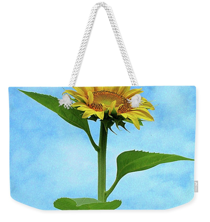 Sunflower Weekender Tote Bag featuring the photograph Sunflower by Lizi Beard-Ward