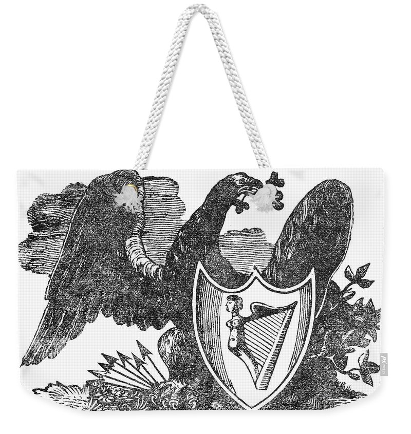 1825 Weekender Tote Bag featuring the photograph Symbols: Eagle by Granger