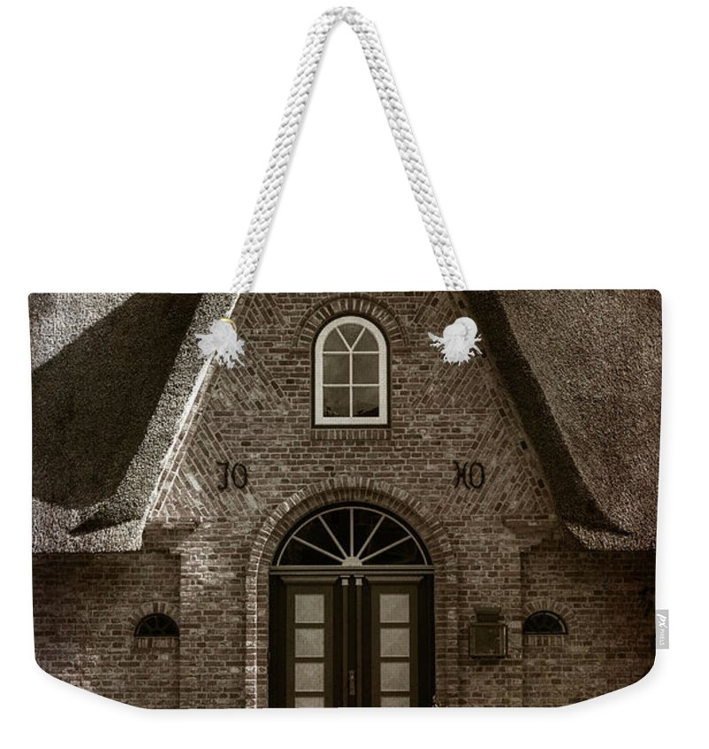 House Weekender Tote Bag featuring the photograph Thatch by Joana Kruse