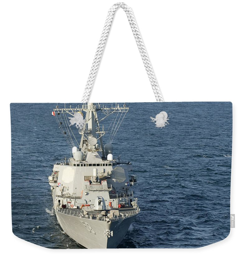 Military Weekender Tote Bag featuring the photograph The Guided-missile Destroyer Uss Laboon by Stocktrek Images