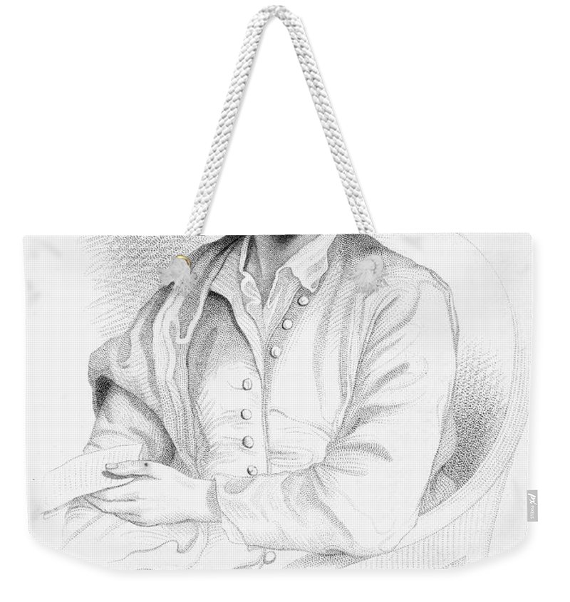 18th Century Weekender Tote Bag featuring the photograph Thomas Gray (1716-1771) by Granger