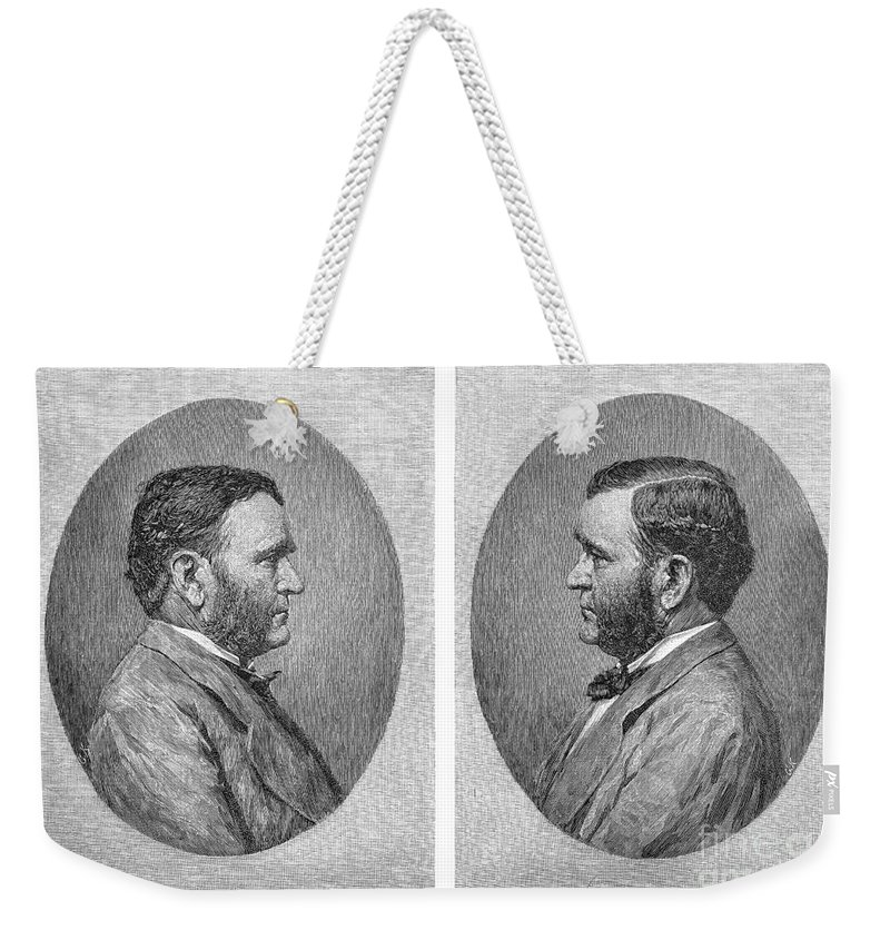 1875 Weekender Tote Bag featuring the photograph Ulysses S. Grant by Granger