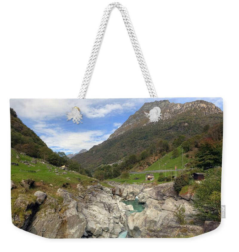 Verzasca Weekender Tote Bag featuring the photograph Valle Verzasca - Ticino by Joana Kruse