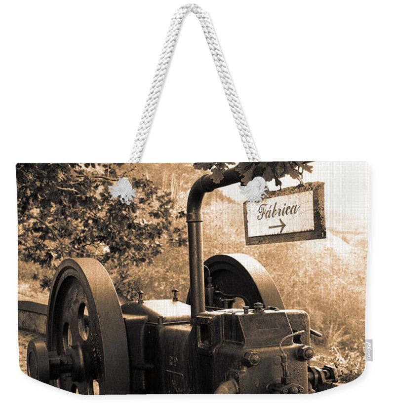 Azores Weekender Tote Bag featuring the photograph Vintage Machinery by Gaspar Avila