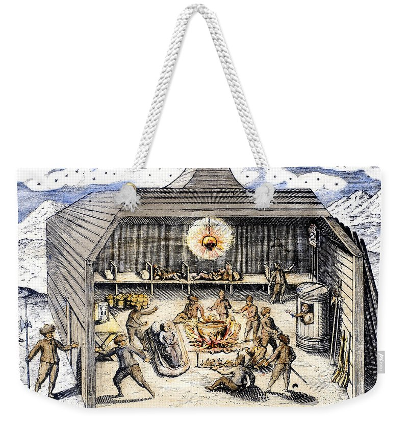 1590s Weekender Tote Bag featuring the photograph Willem Barents (c1550-1597) by Granger