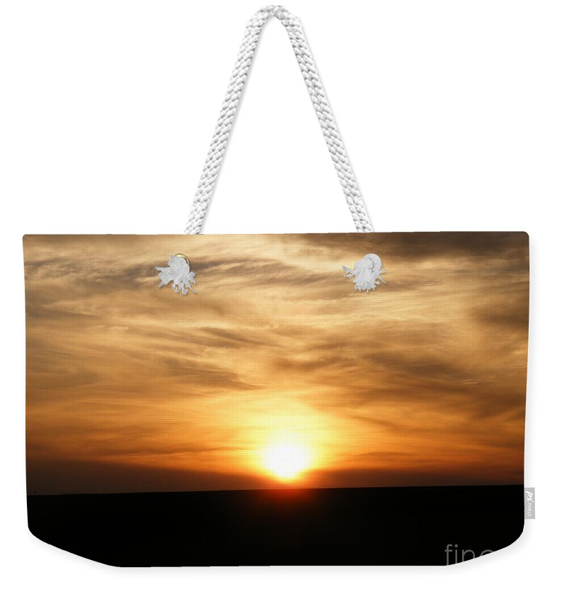 Sunset Weekender Tote Bag featuring the photograph Winter Sunset by Helena Marais