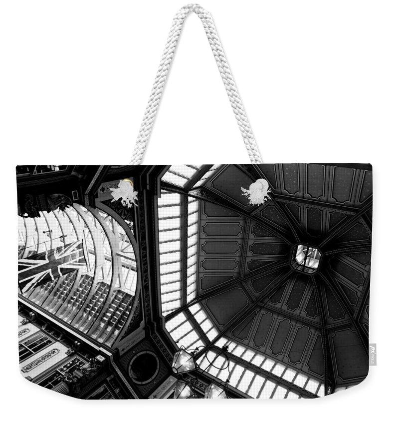 Victoria Weekender Tote Bag featuring the photograph Leadenhall Market London by David Pyatt
