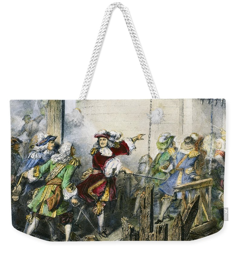 1677 Weekender Tote Bag featuring the photograph Louis Xiv (1638-1715) by Granger