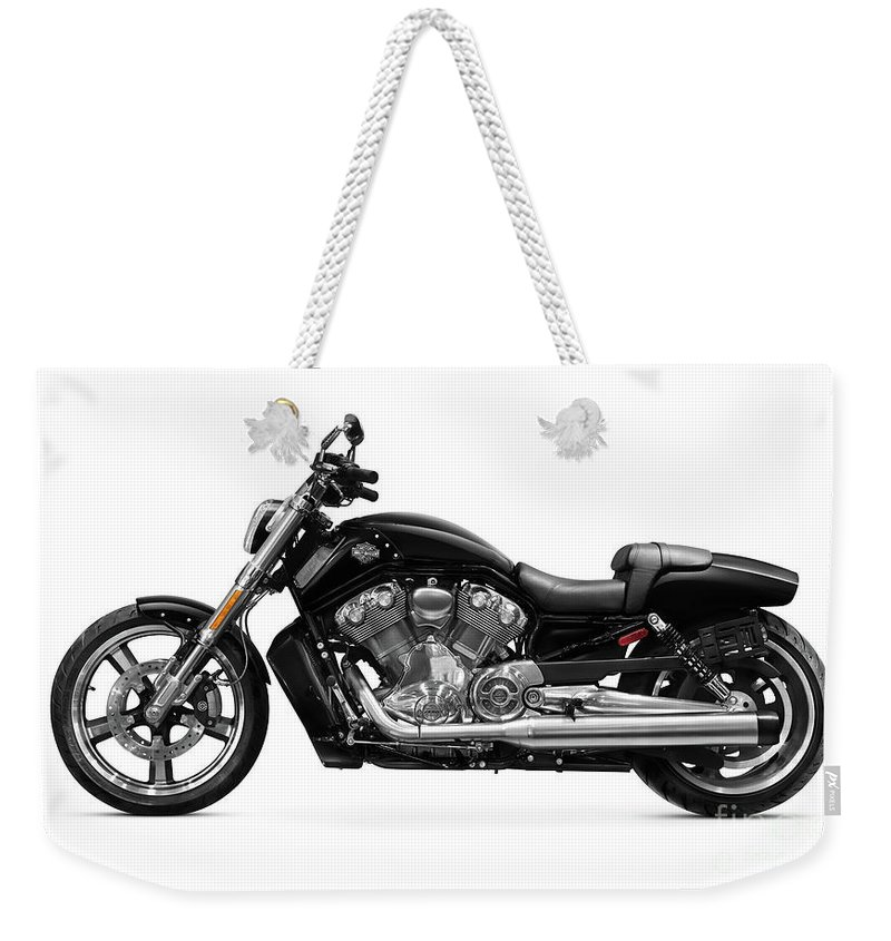 Motorcycle Weekender Tote Bag featuring the photograph 2010 Harley-davidson Vrsc V-rod Muscle by Oleksiy Maksymenko