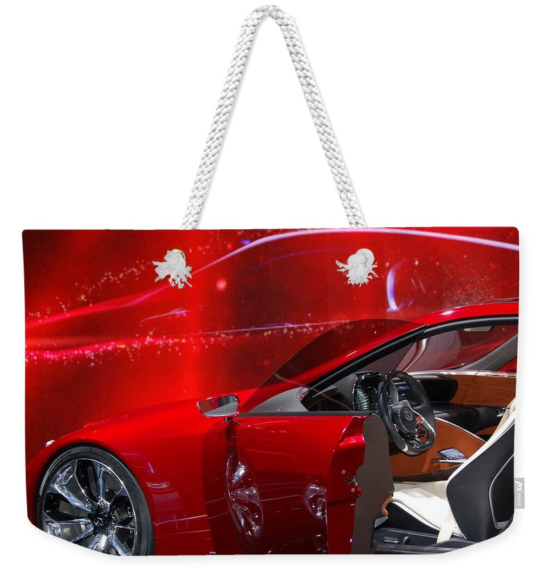 2013 Lexus Lf-lc Weekender Tote Bag featuring the photograph 2013 Lexus L F - L C by Randy J Heath