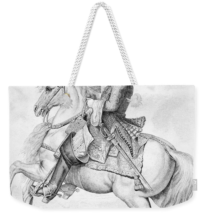 18th Century Weekender Tote Bag featuring the photograph Louis Xiv (1638-1715) by Granger