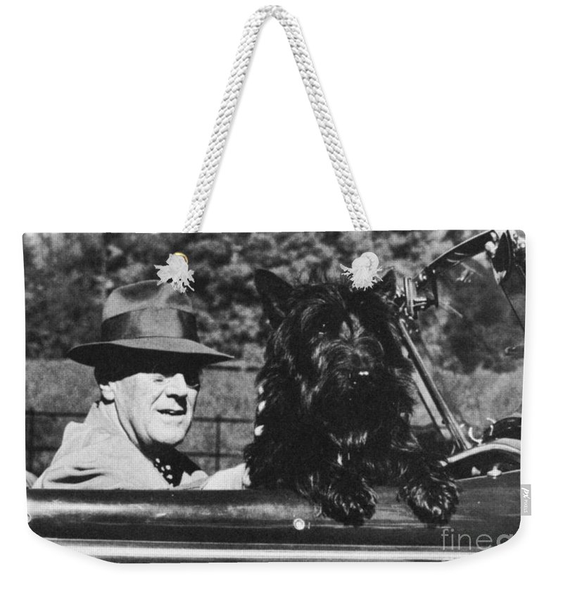 1944 Weekender Tote Bag featuring the photograph Franklin D. Roosevelt by Granger