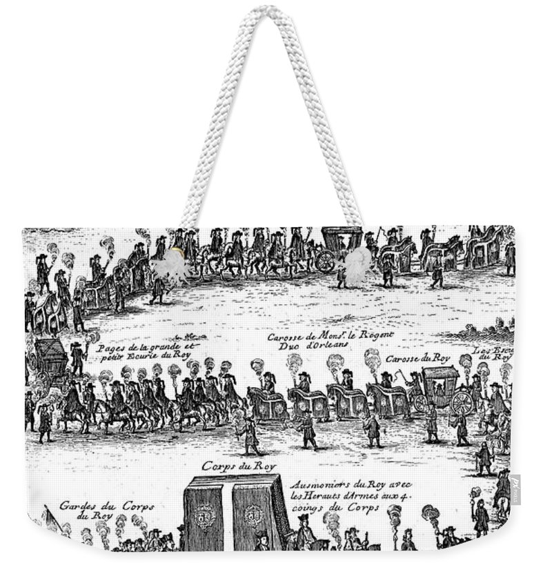 1715 Weekender Tote Bag featuring the photograph Louis Xiv (1638-1715) by Granger