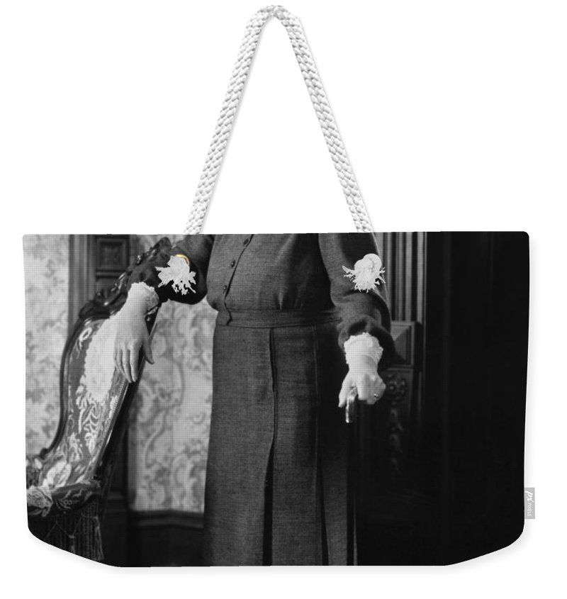 -women Single Figures- Weekender Tote Bag featuring the photograph Silent Film Still: Woman by Granger