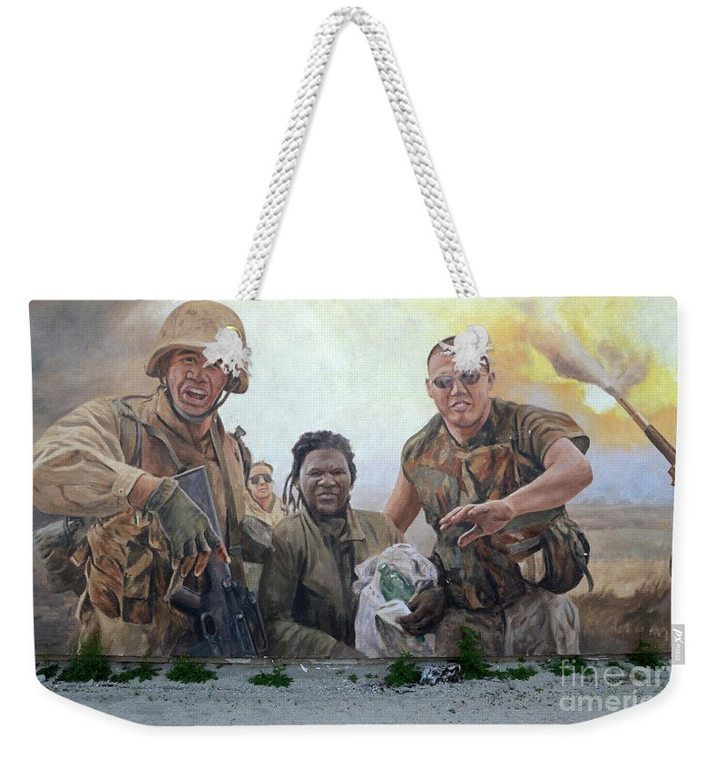 Mural Weekender Tote Bag featuring the photograph 29 Palms Mural 2 by Bob Christopher