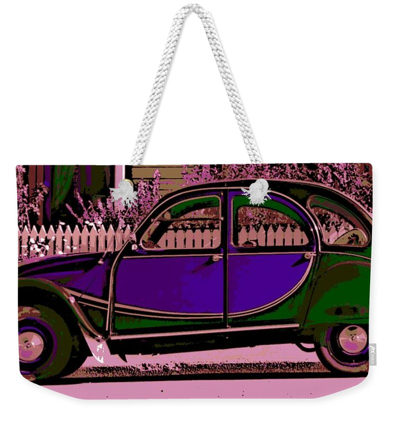 Citroen Weekender Tote Bag featuring the photograph 2CV by George Pedro
