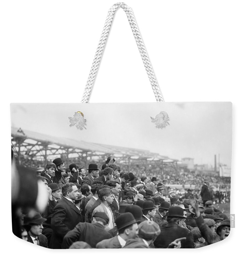 1908 Weekender Tote Bag featuring the photograph Baseball: Playoff, 1908 by Granger
