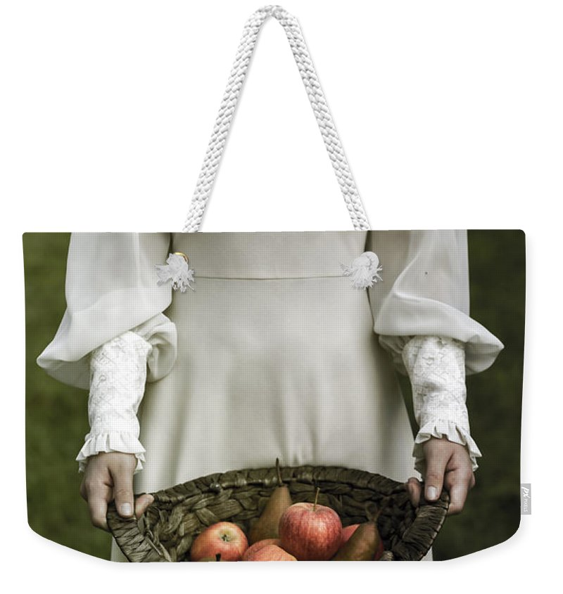 Woman Weekender Tote Bag featuring the photograph Basket With Fruits by Joana Kruse