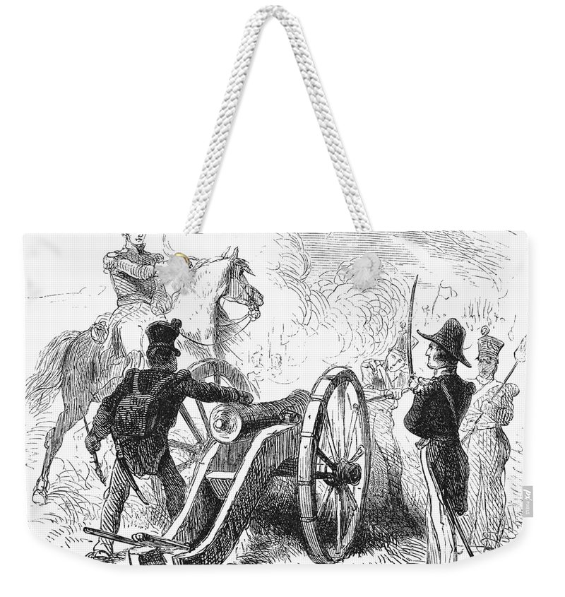 1847 Weekender Tote Bag featuring the photograph Battle Of Buena Vista by Granger