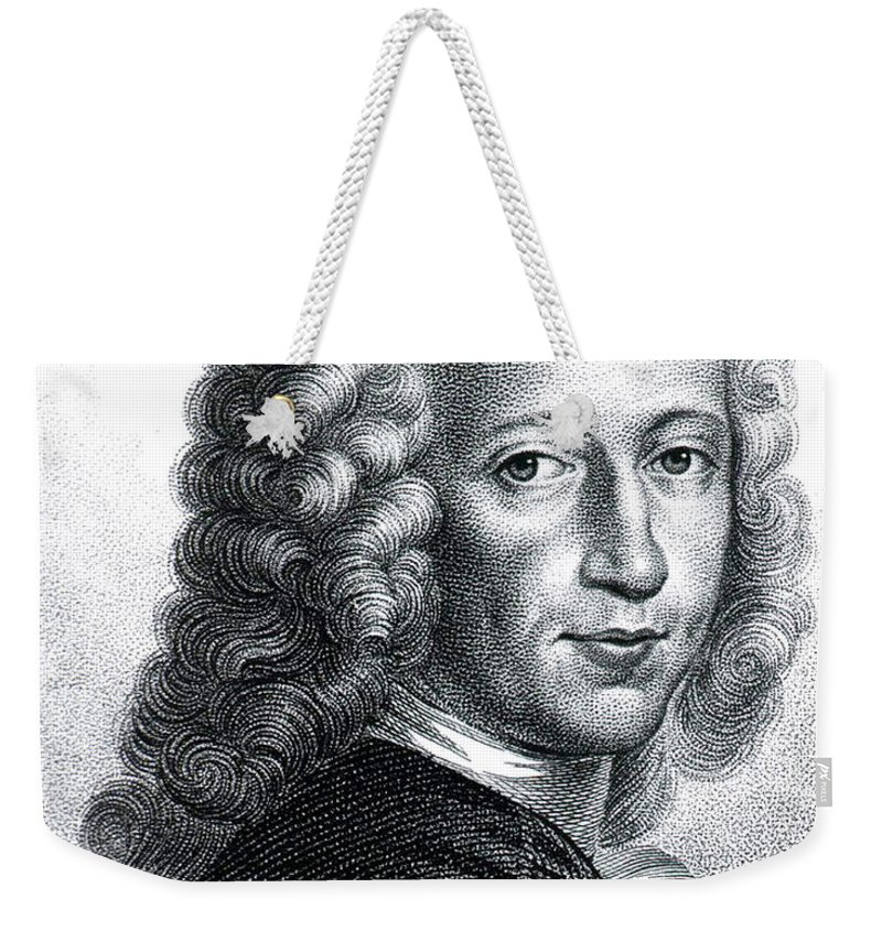 History Weekender Tote Bag featuring the photograph Bernhard Siegfried Albinus, Dutch by Science Source