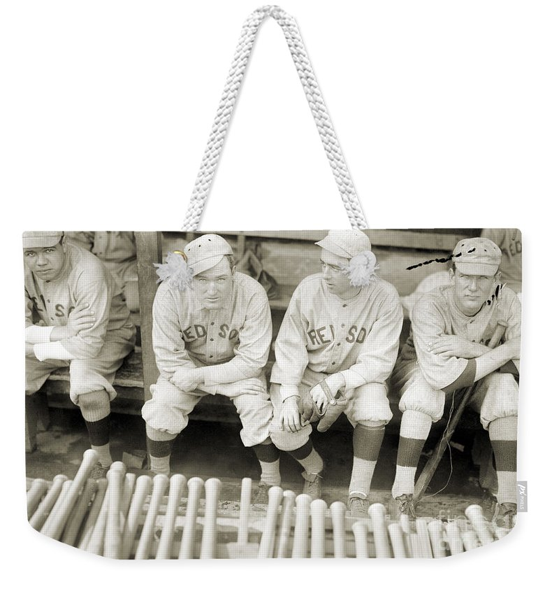 1916 Weekender Tote Bag featuring the photograph Boston Red Sox, 1916 by Granger