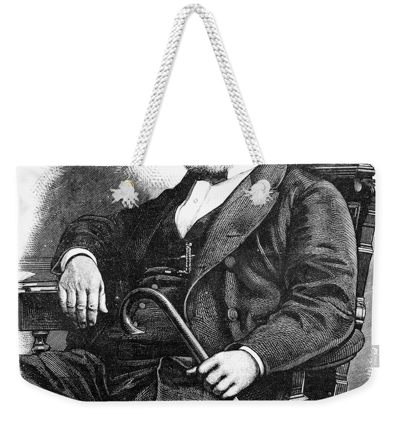 1877 Weekender Tote Bag featuring the photograph Brigham Young (1801-1877) by Granger