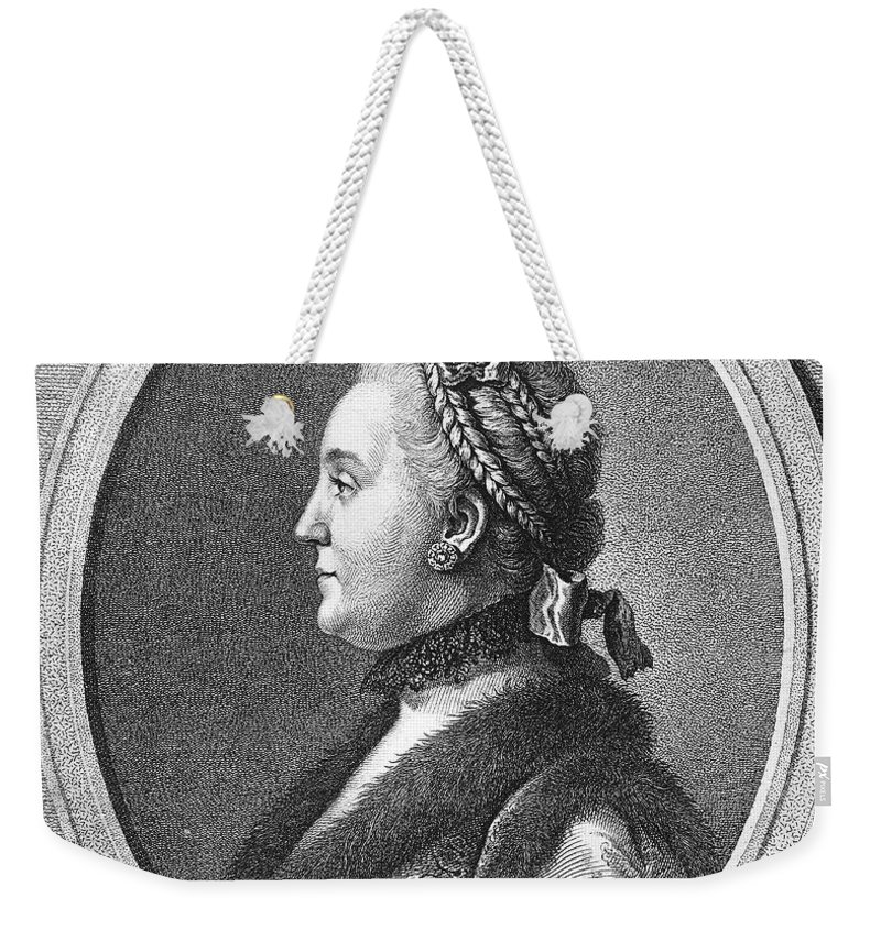 1762 Weekender Tote Bag featuring the photograph Catherine II (1729-1796) by Granger