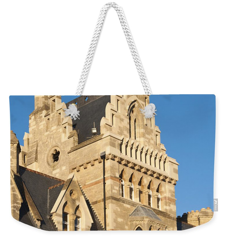 Britain Weekender Tote Bag featuring the photograph Christchurch College by Andrew Michael