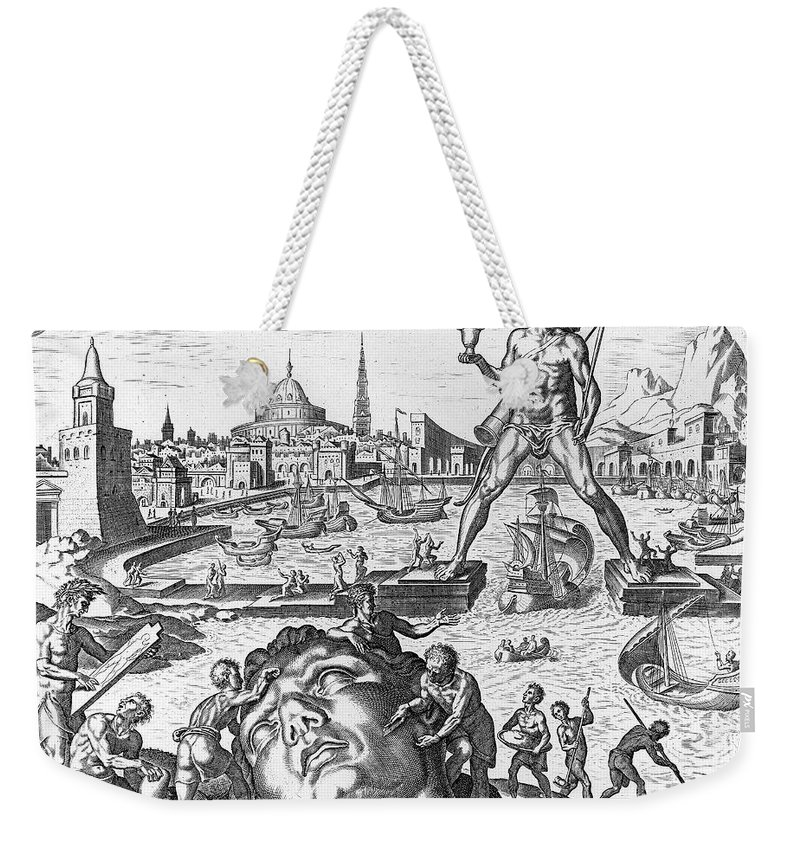 1638 Weekender Tote Bag featuring the photograph Colossus Of Rhodes by Granger