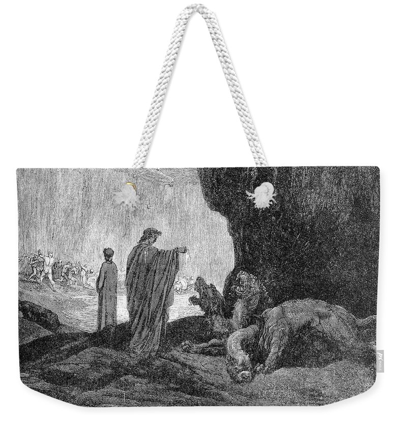 14th Century Weekender Tote Bag featuring the photograph Dante: Inferno by Granger