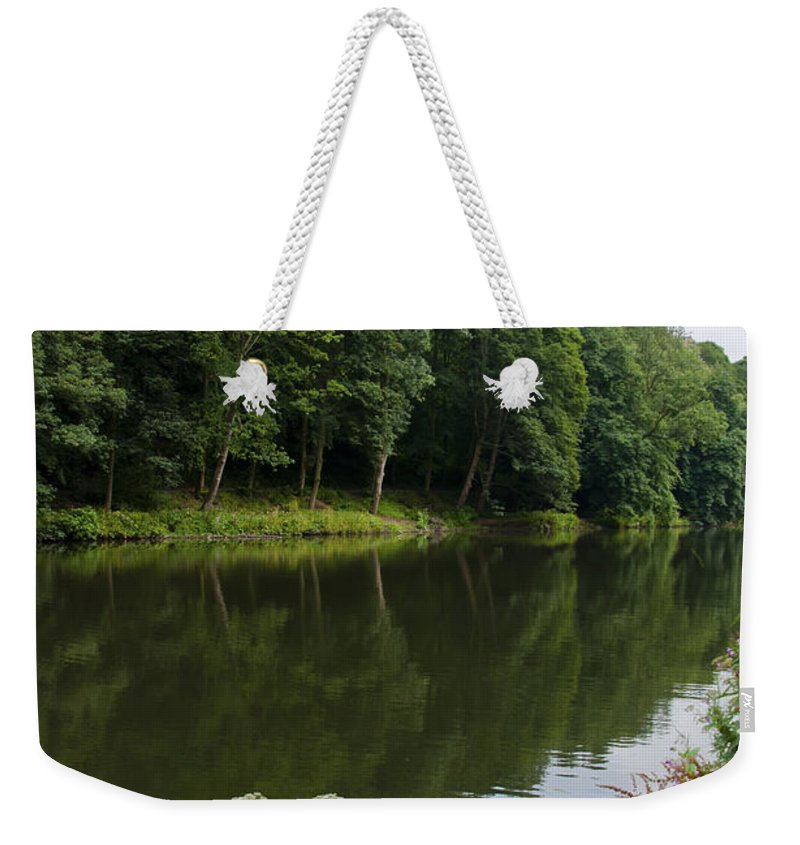 Britain Weekender Tote Bag featuring the photograph Durham Cathedral by Andrew Michael