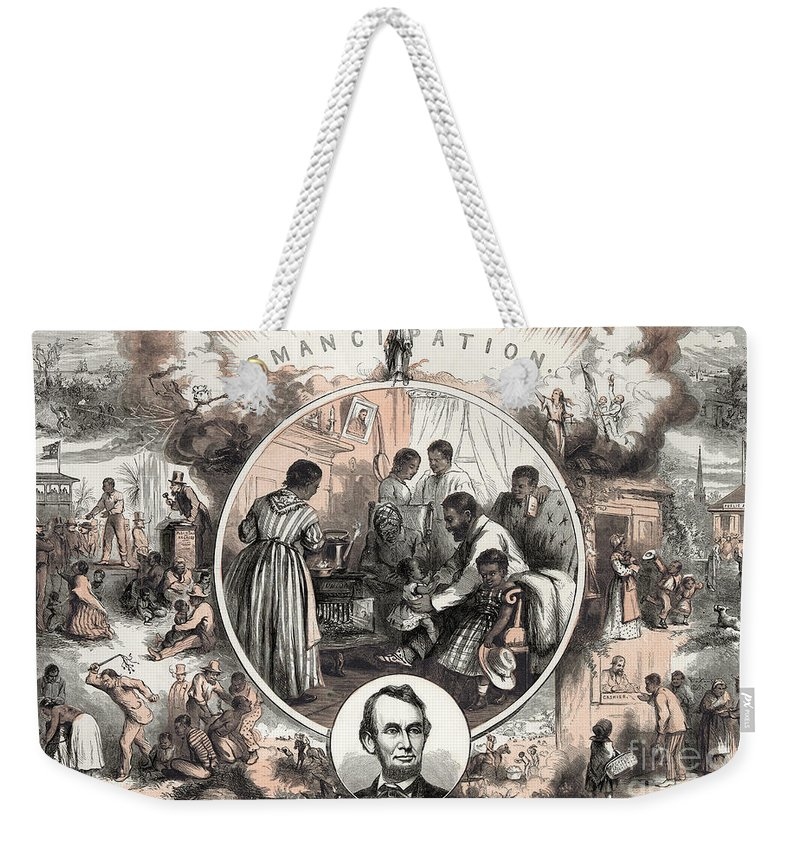 1863 Weekender Tote Bag featuring the photograph Emancipation Proclamation by Granger