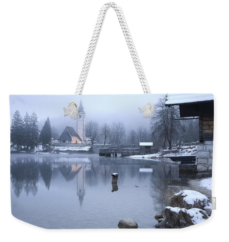 Bohinj Weekender Tote Bag featuring the photograph First Dawn by Ian Middleton