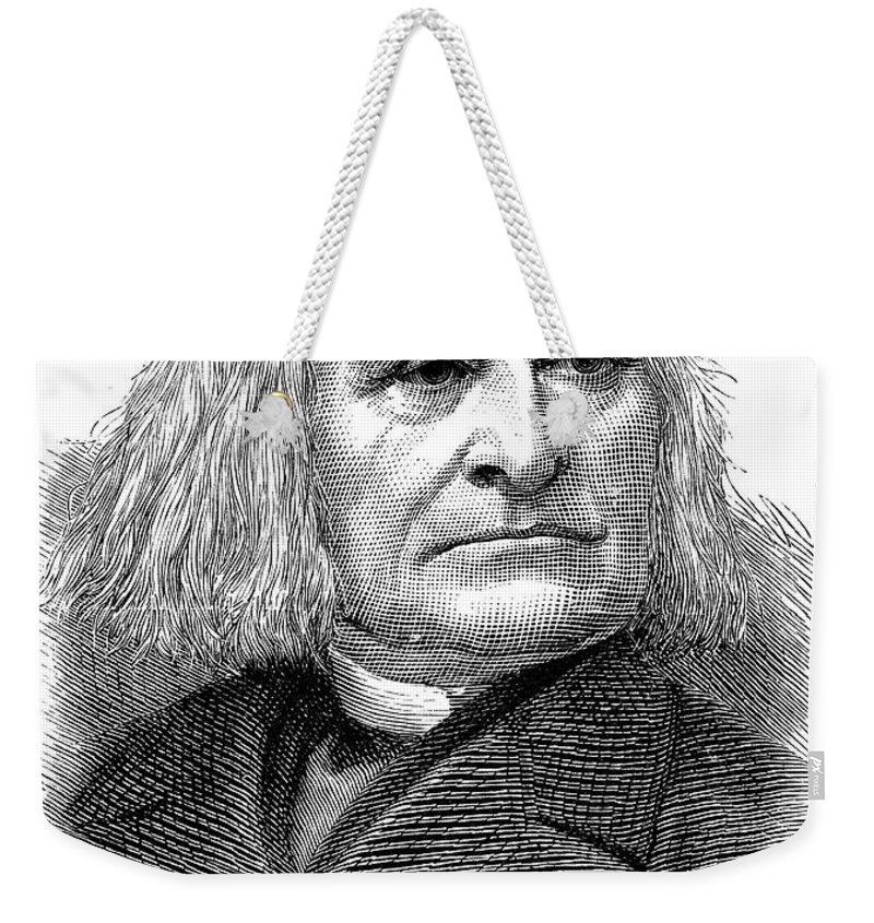 1886 Weekender Tote Bag featuring the photograph Franz Liszt (1811-1886) by Granger